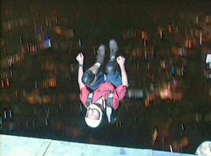 Gary Cunningham jumping off KL Tower