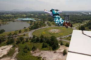 Dan Witchalls BASE Jumping off Menara Pelita