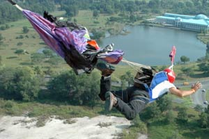 Norizan BASE Jumping off Menara Pelita