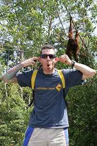 Douggs at Semenggok Orang Utan Rehabilitation Centre - Who is the monkey?
