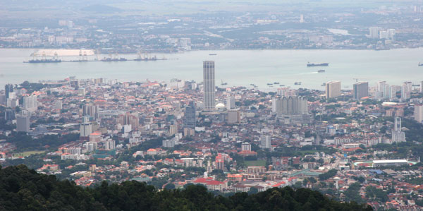 Georgetown from Penang Hill