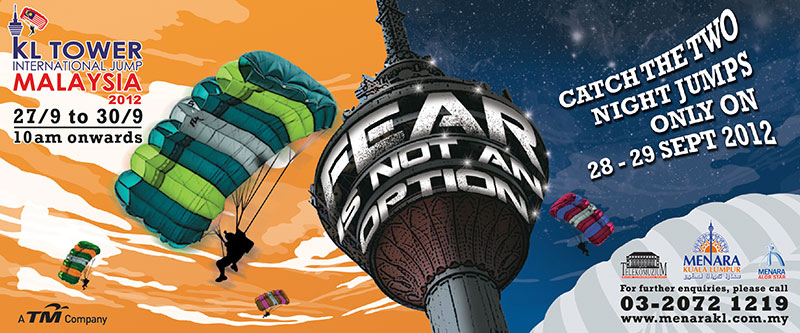 KL Tower BASE Jump 2012 Banner